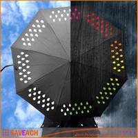 Wholesale Creative Colour Changing Umbrella Rainbow Rain Drops Umbrellas Novelty New Year Xmas Gift Color Change Umbrella