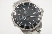 aquaracer quartz watch - Luxury Brand Tag Quartz Watch Calibre Men Black Dial Aquaracer Stainless Band HeuerWatch Montre Homme