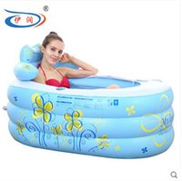 Wholesale Size cm With Electric Pump Thickening Inflatable Bathtub Folding Tub Bath Basin Plastic Bath Bucket