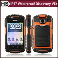 "Cheap Rugged Discovery V5+ V5 IP67 Waterproof Mobile Phone 3.5"" MTK6572 Dual Core Camera 3G WCDMA Android 4.2 Cheap Dual SIM Cellphone DHL"
