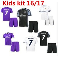 Wholesale Thailand top quality children s short sleeved shirt camisetas futbol jersey foot kid children football shirt Real Madrid soccer