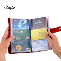 best business banking - New Card places leather card holder bank credit pack card protector business card bag big capacity best gifts solid color
