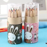 Wholesale 18 Color wood pencil for kid Gift package colored pencils for drawing stationary office material school supplies