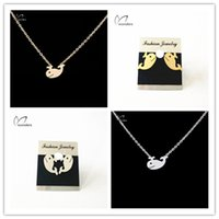 asian summer fashion - Summer Fine Jewelry Sets Gold Plated Stainless Steel Fashion Cute Whale Pendant Necklace Stud Earrings Sets for Women S36