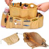 Wholesale set Large and Small Storage Bag Handbag Purse Travel Sundries Tidy Organiser Bag Multifunctional Tan Black