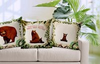 bear body pillow - The jungle story sweet home the bear and its family emoji massager pillow decorative pillows case home decor kids gift