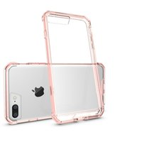 airs acrylic crystals - Air Hybrid Crystal Soft TPU Transparent Frame Back Case Acrylic Cover Armour Case For iPhone Plus S Samsung Galaxy S7 edge DHL p