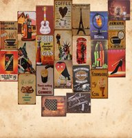 Wholesale Retro metal painting cafe bar KTV decorative wall hangings handicrafts creative home personality
