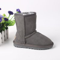 australian shoes - New Arrival Children Shoes Genuine Leather Girls Boys Warm Snow Boots Enfant Fille Australian Classic Winter Fur Toddler Boot For Kids