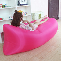 Wholesale 2016 New Fast Inflatable inflatable Sleep Camping Bed Quick Open Air Sleeping Bed Beach Sofa Only Need Seconds