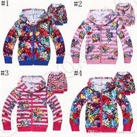 Wholesale Poke Games Animal Hoodies Kids with Zipper Pocket Monster Pikachu Autumn Coat Girl Cardigan Jacket Cartoon Sweatshirts Hoodies LJJO835