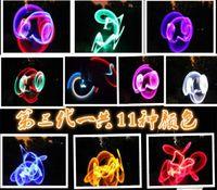 Wholesale LED luminous nunchaku nunchaku nunchaku with single fluorescent sticks