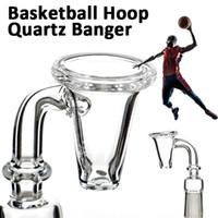 basketball glasses - 4MM MM thick Quartz Banger Nail Domeless Basketball Hoop Styled mm mm mm male female for glass bongs water pipes