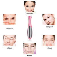 Wholesale Eye Care Electric Vibration Eye Face Massager Anti wrinkle Black Rim Fade Out Fine Lines Eye Anti Ageing Wrinkle Lifting Massager