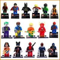 Wholesale 16Pcs Sets Super Heroes Minifigures Building Toys Marvel s The Avenge Blocks Toy superman batman hulk Thor