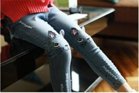 Wholesale 2016 Girls Jeans Hitz children all match slim long pants pants cartoon
