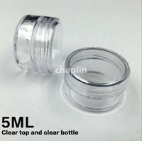 art display cases - PS ML Cream Jar Cosmetic Container Sample Jar Display Case Cosmetic Packaging g Mini plastic bottle Nail art glitter powder