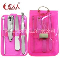 Wholesale factory high grade PVC bag manicure tools suit advertisement nail clippers and cutter women s daily use easy to carry