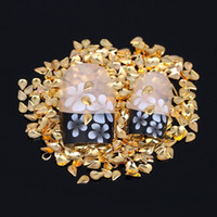 Cheap #17-#21 Metal Stickers For 3D Nail Art Decorations Flatback Tips Glue On Studs Beauty French Manicure Decals DIY Designs