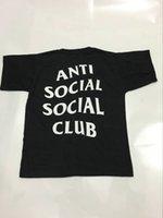 airs club - 2016 Summer ANTI SOCIAL CLUB T Shirt Mens Hip Hop Streetwear Cotton Short sleeved T Shirt KANYE WEST Air For Sale
