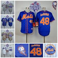 dresses new york - 2015 New York Mets Jacob deGrom Jersey Mr Mets Patch Baseball Shirt Cool Base Camo White Blue Orange Sports Dress