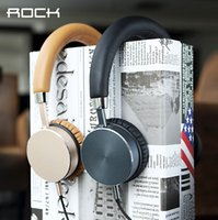 Wholesale Rock Aluminum Stereo MM Plug Headset Headphone Smartphone Earphone For Samsung Galaxy S6 For Computers For iPad