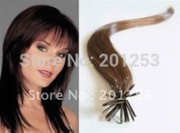 Wholesale quot New Fashion Stick Pre bonded I tip Human Hair Extensions Medium Brown g