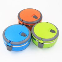 Wholesale 1Pcs one Layer Thermal Bento Lunch Box Thermos For Food Stainless Steel Insulation Storage food Container Dinnerware sets L