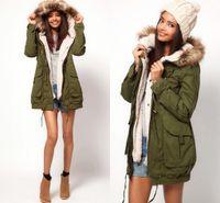Wholesale Faux Fur Fall Winter New Arm Green Women Men Down Parkas Casual Cardigan Jacket Outwear Thick Warm Long Sleeve Winter Coat FS0704