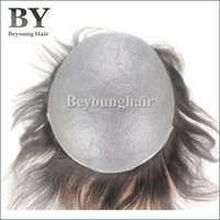 thin skin wig - Indian Human Hair Replacement System For Men mm Ultra Thin Skin Men s Toupee Invisible Front Hairline V loop Knots
