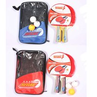Wholesale Long Handle Shake hand Table Tennis Racket Sets Ping Pong Rubber Paddle Waterproof Bag Pouch Indoor Table Tennis Accessory