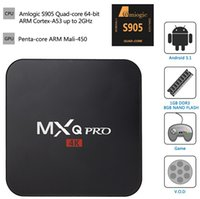 Wholesale Attractive designs K Ultra HD KODI MXQ Pro Amlogic S905 Android WIFI GB GB TV Box