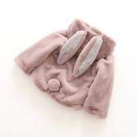 beige cape coat - Hug Me Girls Faux Fur Coat Christmas Kids Clothing Autumn Winter Fashion Poncho Cute Rabbit Ears Shawl Cape ER