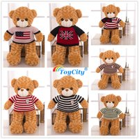 Wholesale sweater wearing rose plush teddy bear giant huge Large teddy bears stuffed skin toys dolls Birthday Valentines christmas Gifts toycity B005