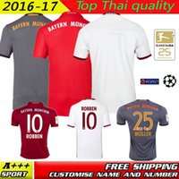 Wholesale Best Quality Bayern RD home Away jerseys MULLER ROBBEN GOTZE BOATENG ALABA VIDAL COATA LEWANDOWSKI jersey