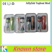 Wholesale Jellyfish Tugboat Tube V2 Kit Comes with Tugboat Mod Tugboat Atomizer Magnet Tugboat Kit E Cigarette Mod DHL Free