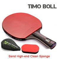 Wholesale SALE Original Quality TIMO BOLL table tennis racket Hybrid Wood table tennis blade PINGPONG paddle Send Clean Sponge