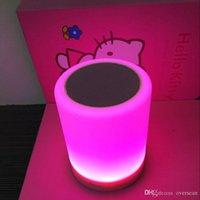 Сенсорную панель Цены-Новый портативный ручной кольцо Smart Touch-Sensitive Панель управления Светодиодная лампа Speaker Индукционная лампа Беспроводная связь Bluetooth Music спикер высокого качества