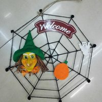 bar manual - 2016 halloween decoration Welcome Store bar home supplies Halloween accessories Spider net skull witch Manual crafts
