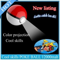bank list - New listing Creative Cartoon portable powerbank POKE Poke Ball power banks for Projection Lovely Pikachu Poke Ball mah Monsterzzz
