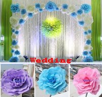 big backgrounds - 30CM quot Big Foam Rose Flower For Wedding Stage Background Door Decorative Flower Party Decoration Supplies Colors