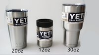 Wholesale Insulated Stainless Steel YETI oz Cup Cooler YETI Rambler Tumbler For Travel Vehicle Beer YETI Mug Tumblerful Bilayer Vacuum