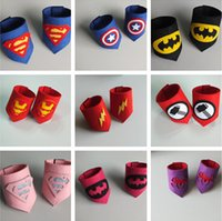 Wholesale 15 designs kids Superhero armband super hero wristband superhero Superman Batman Spiderman avengers cosplay armguard armbands Children