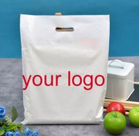 bag die cut - 30 cm customize logo plastic packing bags handle cloting bags with logo Die cut Handle Plastic bags customize shopping bags