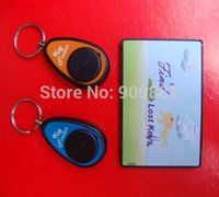 Wholesale Lost Keys Locator RF Wireless Technology No Radiation Super Electronic One To Two Card Type Key Finder Kit sets