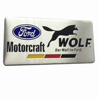 auto cars germany - Car Styling Motorcraft Wolf Aluminum Car Sticker Metal Emblem Badge Truck Auto Decals Germany Flag for Ford