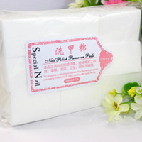 Wholesale Free DHL Nail Art Manicure Thicker Polish Remover Clean Wipes Cotton Lint Pads paper