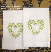 handkerchiefs ladies white embroidered - Home Textiles x22 quot linen Ladies Handkerchief with heart embroidered and One Hemstitched Edges Hand Towel white linen Guest Towel