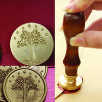 Wholesale New Hot Lord of the rings wax seal Metal head with wood handle DIY Scrapbooking wax stamp copper head Vintage Gift high quality