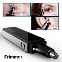 Wholesale Pritech Professional Water Resistant Nose and Ear Hair Trimmer with LED Light Ultra Modern Design